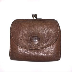 Fossil Vintage Leather Coin Purse Wallet